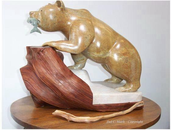 Wildlife gallery soapstone carvings and sculptures by